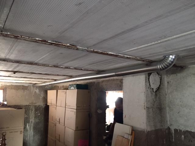 Installation po le bois tanche supra sur fortschwihr for Installation conduit exterieur poele bois