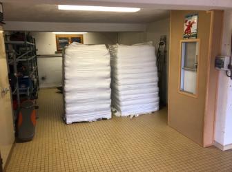 Livraison de 2 palettes de  granulés sur la commune du Hohwald: le 03.10.18