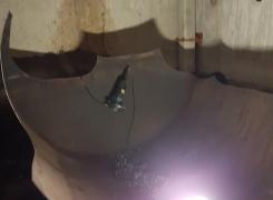 Découpe d'une cuve cylindrique sur Obernai le 13/02/17