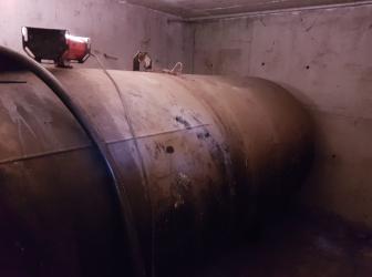 Découpe d'une cuve fioul cylindrique de 6000l sur Marckolsheim : 12.06.17