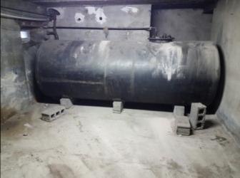 Enlèvement cuve fioul PVC et découpe cuve fioul acier : le 13.09.17