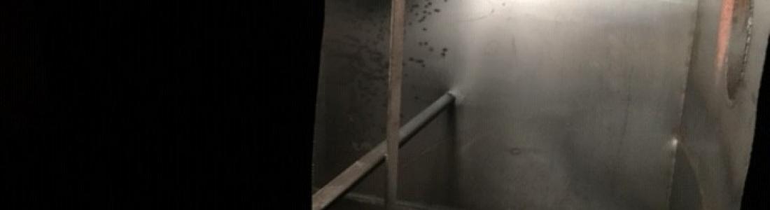Nettoyage, dégazage et découpe cuve fioul 15m3 sur Labaroche: le 16.01.19