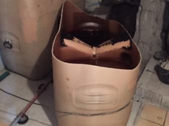 Nettoyage, dégazage et découpe de 2 cuves fioul PVC de 1000l chacune: le 18.06.19