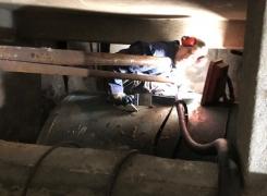 Enlèvement d'une chaudière et d'une cuve fioul 3000l cylindrique sur Mulhouse: le 23.04.18