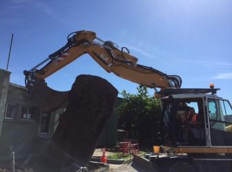 Sortie de terre d'une cuve enterrée sur Meyenheim : le 13.06.17