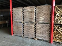 Livraison de 24Tonnes de bois densifié dans nos locaux: 20.07.18