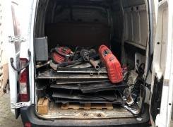 Nettoyage, dégazage et découpe cuve 5500l rectangulaire sur Ingersheim: le 11.10.18