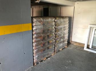 Livraison de 2 palettes de granulés Crepito sur Artzenheim: le 05.09.2018