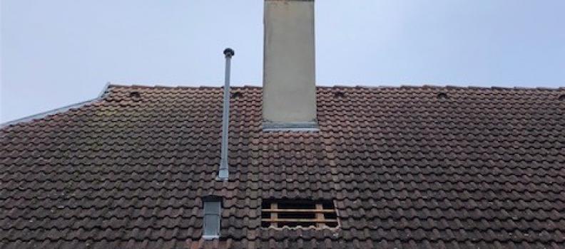 Nettoyage cuve fioul + pose d'un tubage pour chaudière fioul sur Neuf-Brisach: le 31.10.18