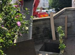 Dégazage et comblement béton de 2 cuves fioul enterrées de 4000L sur STRASBOURG: le 09.09.19