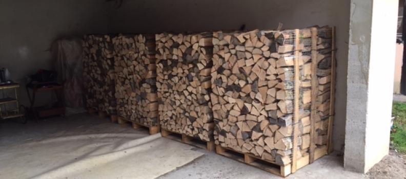 Livraison de 4 palettes de bois de chauffage sur Bennwihr-Gare : le 06.10.17