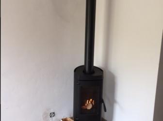 Pose d'un poêle à bois et chapeau de cheminée sur Ribeauvillé : le 10.10.17