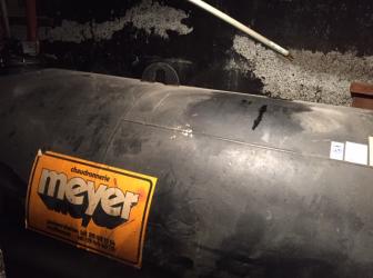 Nettoyage, dégazage et découpe cuve fioul de 4000l cylindrique: le 20.02.19