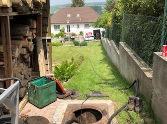 Nettoyage cuve enterrée + test d'étancheité sur Zillisheim: le 18.05.18