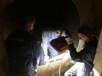 Nettoyage, dégazage et découpe sécurisée cuve fioul 40000l sur Mulhouse: le 19.07.18
