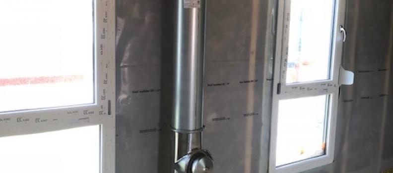 Fourniture et pose d'un conduit de fumée isolée sur Eschentzwiller: le 20.07.18