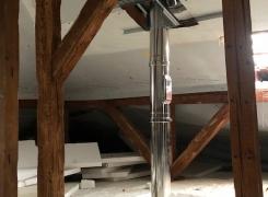 Installation d'un poêle à granulés et creation de conduit isolé sur Issenheim: le 17.05.18