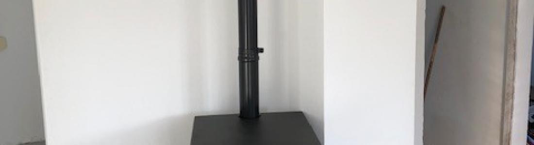 Pose d'un tubage isolé et installation d'un poêle à granulés sur Hagenbach: le 18.12.18