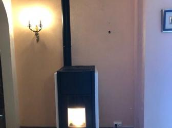 Pose d'un poêle à granulés PALAZZETTI modèle JULIE PRO 3 12kw BLANC sur Réguisheim: Le 05.12.19