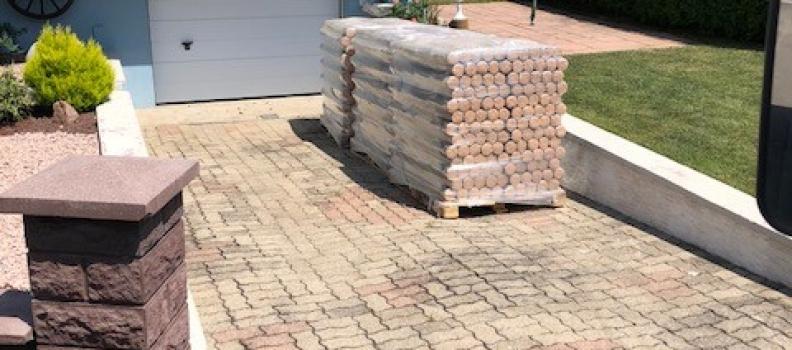 Livraison de 3 tonnes de bûches de bois densifié sur Horbourg-Wihr: le 02/07/2018